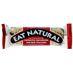 Eat Natural Cranberry Macadamia & Chocolate Bar - 12 Bare - 12 Gram