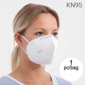 KN95 Ansiktsmask Självfiltrerande Mask med 5 Lager KN95 (1 St) - Munskydd