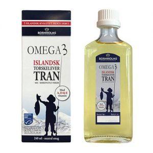 Bornholms Isländsk Tran Omega-3 Fiskoljekapslar - 240 ml