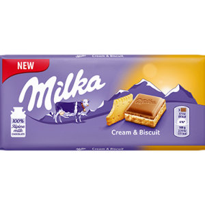 Milka Cream & Biscuit 100g