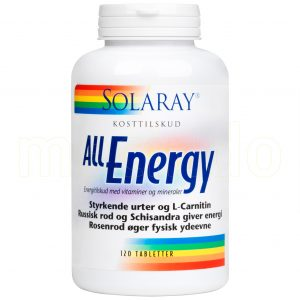 Solaray All Energy - 120 Tabletter