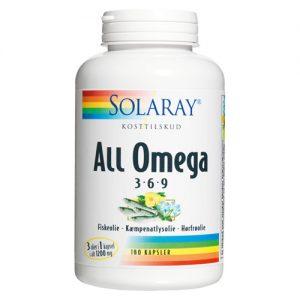 Solaray All Omega 3-6-9 - 180 Kapslar