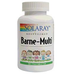Solaray Barne-Multi - 100 Tabletter