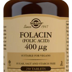 Solgar Folsyre - 400 mcg - 250 Tabletter