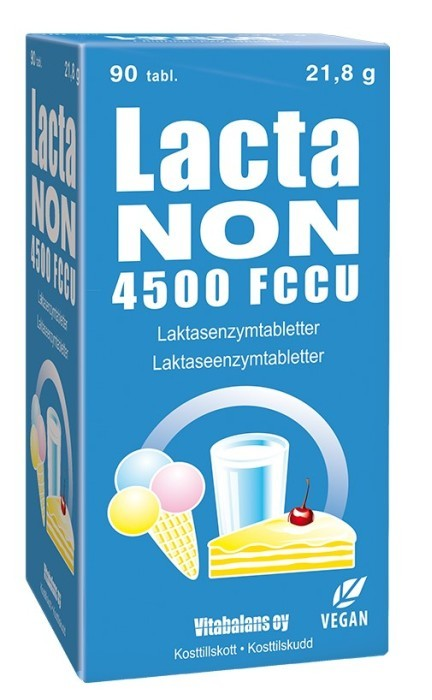 Lactanon 4500 FCCU 90 tabletter