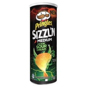 Pringles Sizzl'n Kickin Sour Cream Crisps 180g