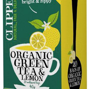 Clipper Grøn Te m. Citron Ø - 20 Påsar