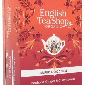 English Tea Shop Beetroot, Ginger & Curry Leaves Te Ø - 20 Påsar