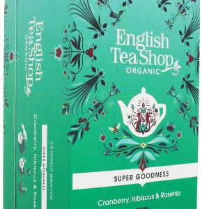 English Tea Shop Cranberry, Hibiscus & Rosehip Te Ø - 20 Påsar