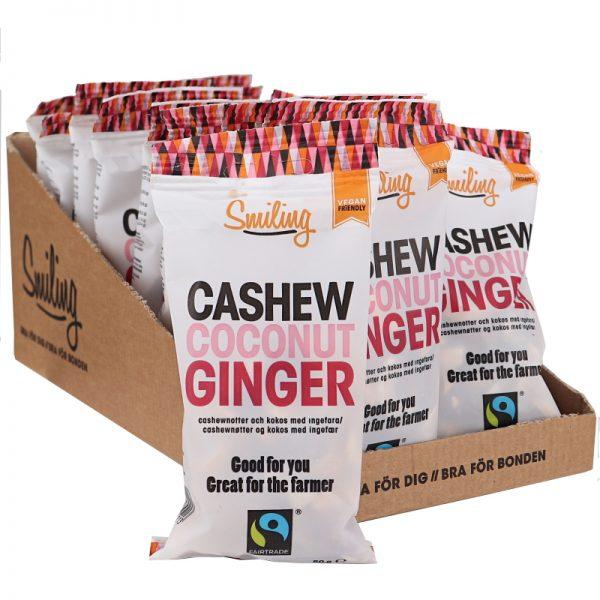 Eko Cashew & Kokos med Ingefära 20-pack - 27% rabatt