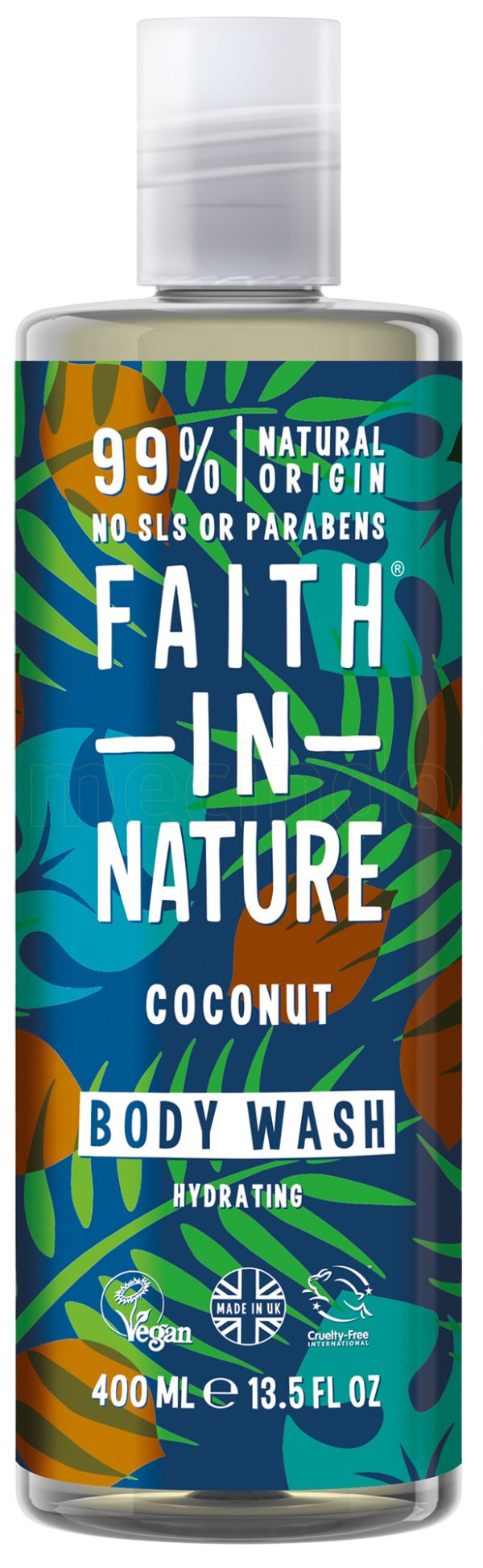 Faith in Nature Coconut Shower Gel & Foam Bath - 400 ml
