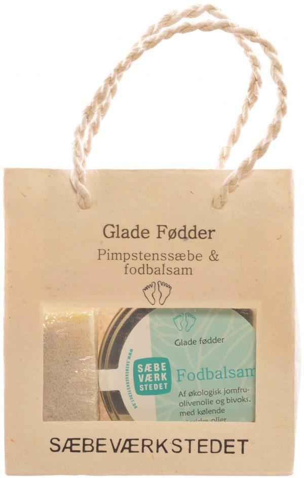Glade fødder gavepose Pimpstenssæbe og fodbalsam - 1 Paket
