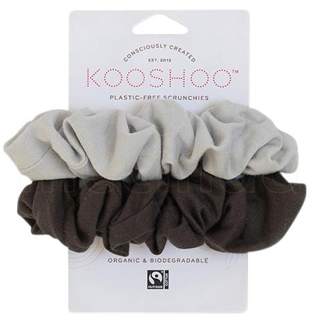 Kooshoo Hår Scrunchie Lys-/mørkegrå Plastfri 2 Stk - 1 Förpackningar