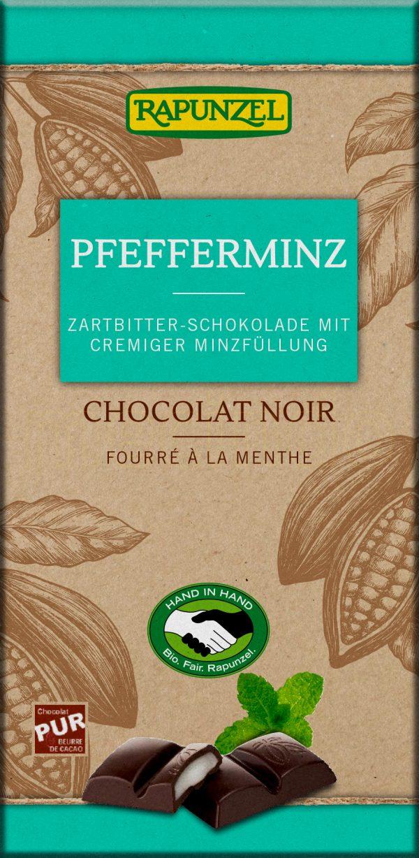 Rapunzel Chokolade M. Pebermynte Ø - 100 G